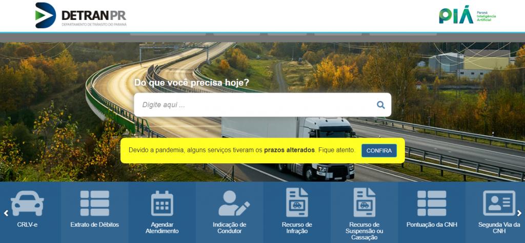 Detran PR - IPVA, Licenciamento, Renavam. detran.pr.gov.br