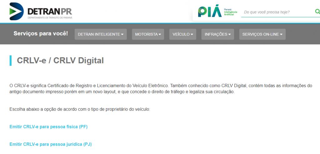 Licenciamento Paraná