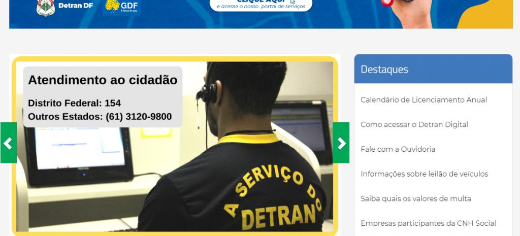 Site Oficial do Detran DF