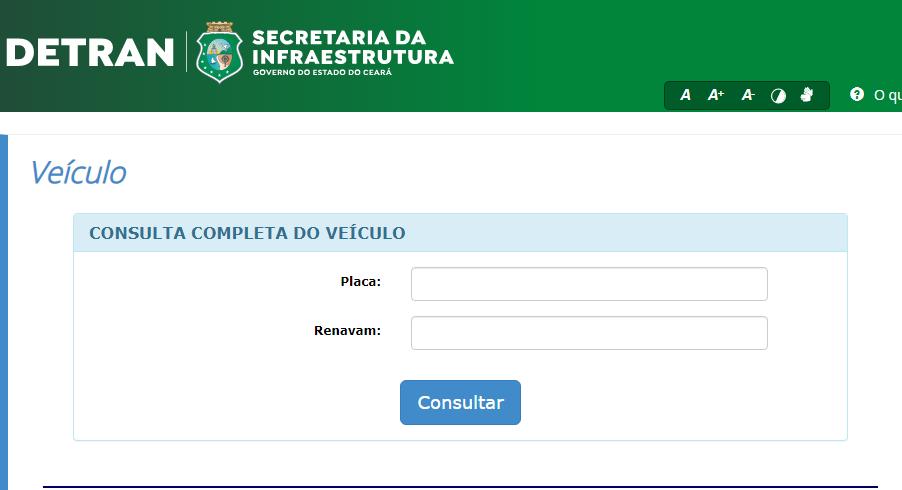 Consulta situação IPVA Detran CE