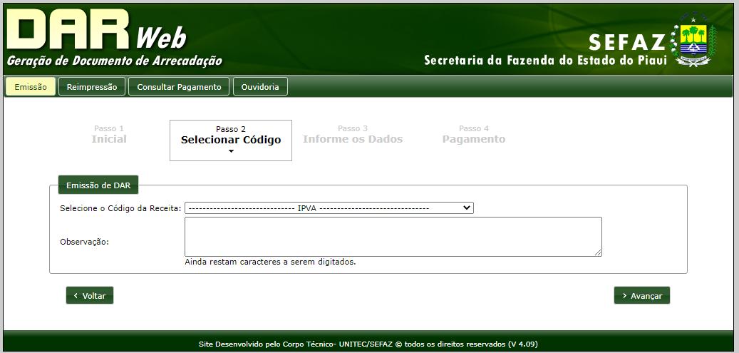 Emissão da 2ª via do IPVA PI