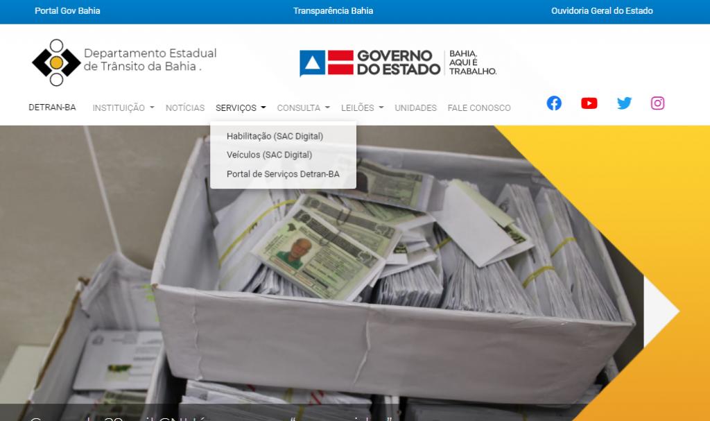 Consulta dos débitos Renavam Detran BA