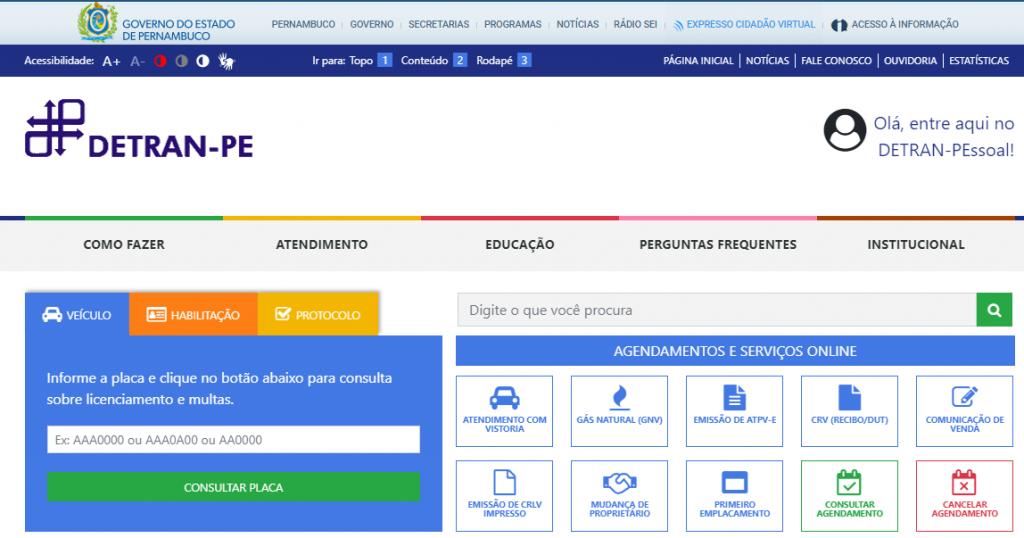 Site do Detran PA - www.detran.oe.gov.br