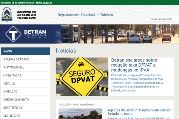 Detran TO - IPVA, Renavam, DPVAT - detran.to.gov.br